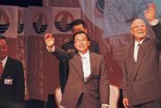 北京當局已把阿扁(左)與李登輝(右)歸為同類」─「台獨頑固分子」。