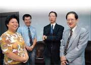 (左一)馬秀如、(左二)莊太平、(右二)陳春山及(右一)覃正祥共同參加基金座談會。