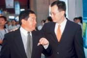 徐旭東(左)若買下辜成允(右)的和信電訊,將成為真正的電信第三雄。