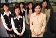 制服多樣化,中壽員工好開心。