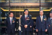 國泰三巨頭 蔡鎮宇(左起)、蔡宏圖、汪國華被稱為「國泰三巨頭」,蔡鎮宇 雖對國泰世華銀行用情頗深,卻堅持在該銀行不掛職銜。