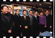 江永慶(右四)負責構思象山有關媒體經營的想法。