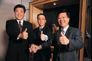 ■李大經(左起)、梁修宗與陳國鴻,在短短的兩個星期內,成為敦陽的新鐵三角。