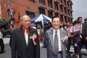 財政部長李庸三、台銀董事長陳木在因公出國、台灣菸酒公司董事長出缺,職務代理人第一人選都看上王得山(左)。