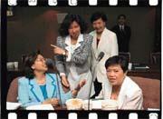 葉菊蘭(後排右)的娘子軍,讓交通部官員有話不敢說(後排左為莊錦華)。