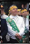 林義雄因核四議題與阿扁關係緊張。