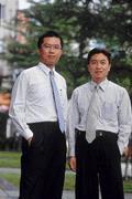 邱華創(左)和張島郎(右)相繼離職,大眾投信「國壽幫」宣告解散。