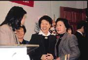 針對考試院長賄選疑雲,張博雅(右二)曾批:這件事不是總統說沒有就沒有的。
