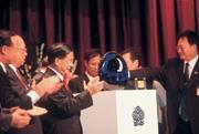 ■陳水扁總統出席台商秋節聯誼,大有與對岸較勁的味道。