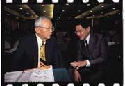 劉泰英(左)與胡定吾(右)明爭暗鬥,角逐中華開發董事長寶座。