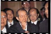 許文龍(中)因《台灣論》一書的發言備受抨擊。