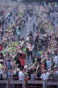 嘉年華式的造勢活動,一改二二八往日的悲情也改寫台灣群眾運動的紀錄。