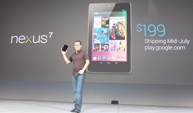 商周今日財經網摘—Google平板「Nexus 7」7月中開賣 售價199美元起
