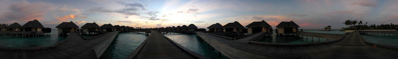 三腳架夕陽環景