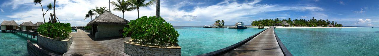 Maldives 旅館一角
