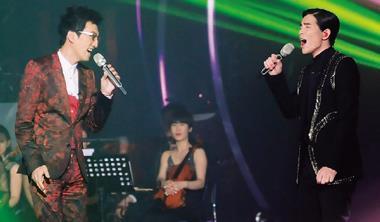 《我是歌手》雖然是中國節目,但若少了林志炫(左)、蕭敬騰(右)等台灣歌手的專業演出,根本不可能在兩岸激盪出如此高的收視率與戲劇張力。