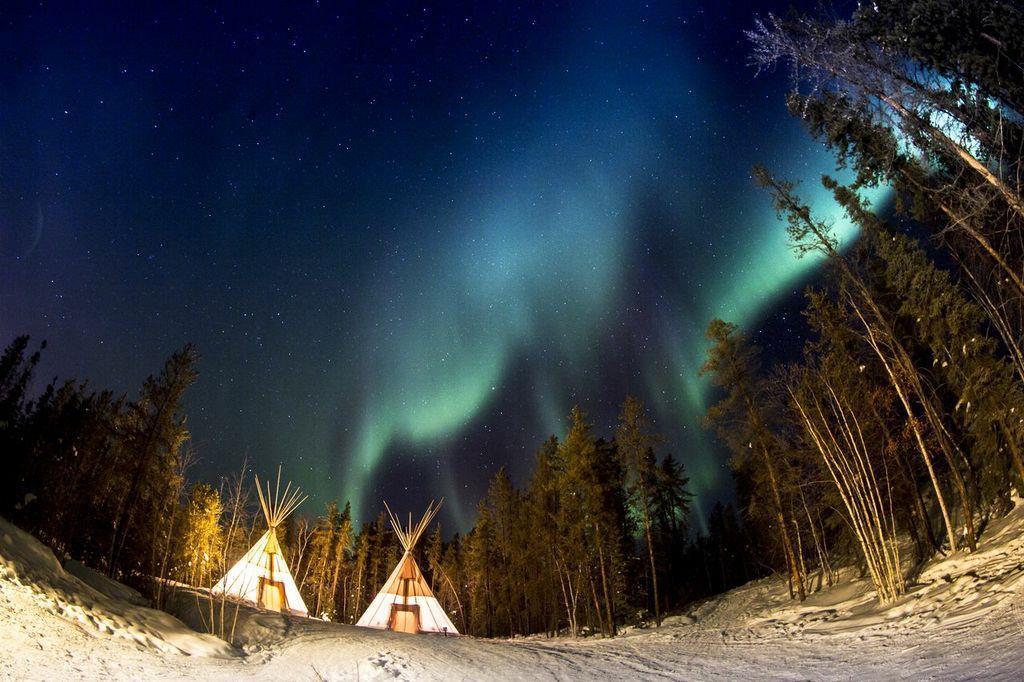 真的是美到誰拍都好看 (Aurora Village)
