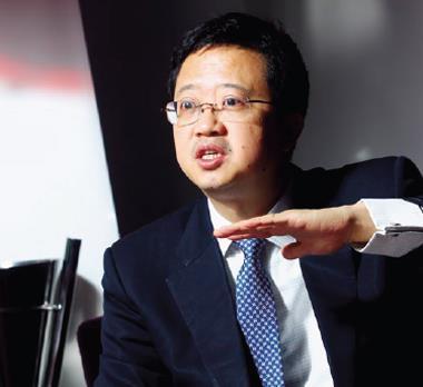 復星集團靠中國壯大,執行長梁信軍(圖) 造訪台灣,就連台灣政界老前輩都搶著請他吃飯。
