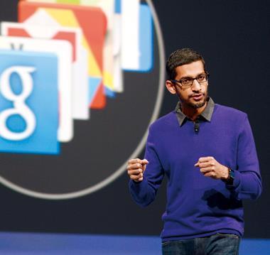 現主管Google兩個最重要部門Android和Chrome的桑德爾在大會發表演說,勾勒未來藍圖。