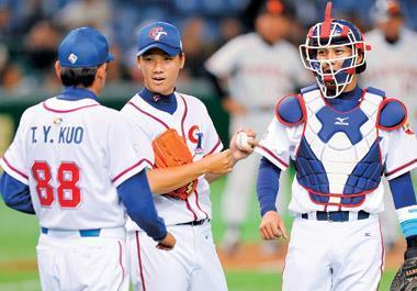 李振昌(中) 在2008年北京奧運中表現亮眼,不但讓他獲得一紙合約,更奠定他在2009年世界棒球經典賽中的信心。