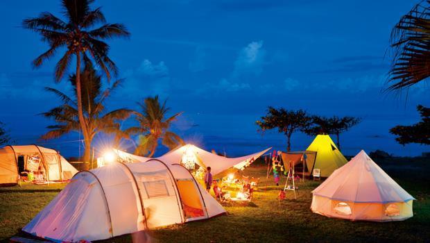 「GCT」( Go Camping Taiwan)的露營場地,來自世界各國的帳篷、天幕,讓整個營地色彩繽紛。