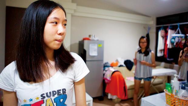 新加坡珍寶宿舍,四人房宿舍好小。