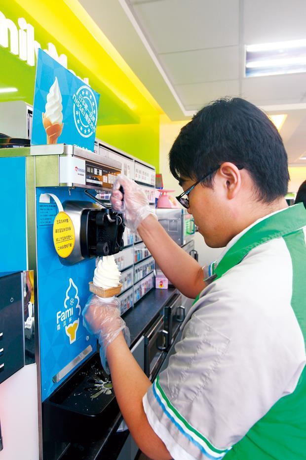 要價40萬元以上的霜淇淋機,讓操作流程變得更簡單。