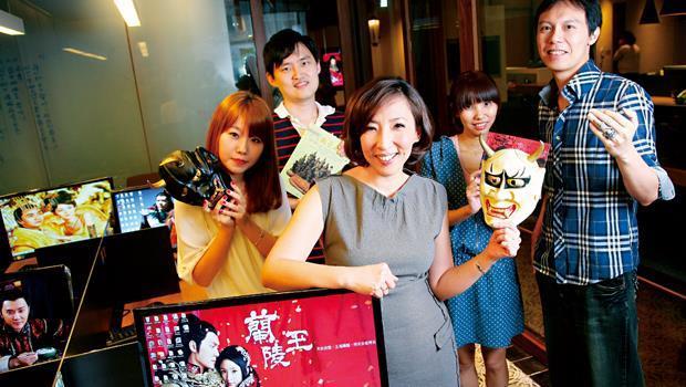 《蘭陵王》的編劇為台灣一群80 後的年輕人。後排從左至右依序為黃繼柔、陳建豪、江孟芝和吳至偉。