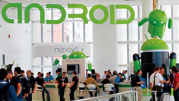 安卓大軍拿下智慧型手機市場八成市占,對台廠卻中看不中吃。圖為安卓系統的開發者大會。