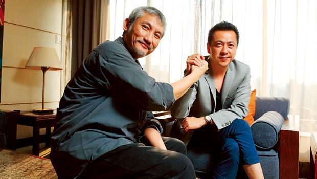 華誼兄弟總裁王中磊(右)、導演徐克(左)