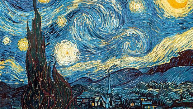 梵谷作品《星夜》
