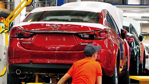 為降低匯率衝擊,馬自達今年起大幅擴增海外廠產能。