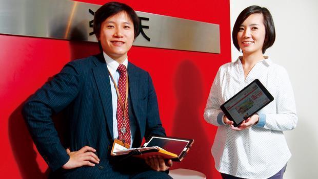 大塚浩君(左)和葉雅芳(右)靠著幫店家把脈對症下藥,分別榮登樂天市場日本和台灣的超級顧問,他們同時也是樂天大學的名師。