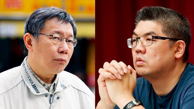 連勝文(右)v.s. 柯文哲(左)