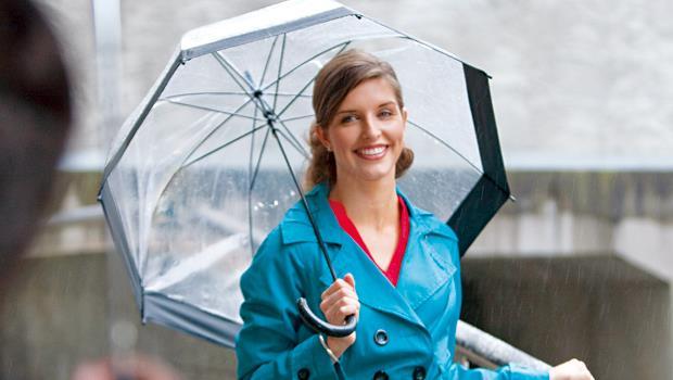穿搭雨衣,保暖內裡加上花紋,變時尚大衣。