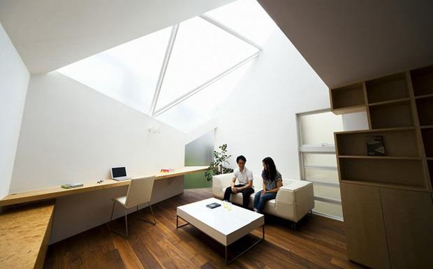小坪數大利用!因應日本都市擁擠所衍生的挑高採光住宅