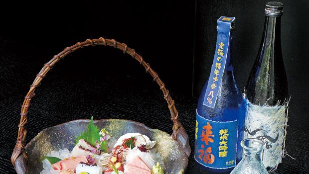 「來福」純米大吟釀的酒廠,把米磨到只剩五分之一,甚至十分之一不到。