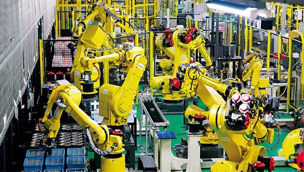巧妙詮釋了發那科在全球機器人產業的地位和影響力。