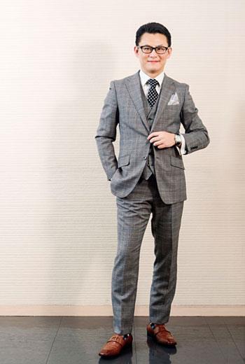 經典三件式西裝,紳士感兼具專業與時尚。