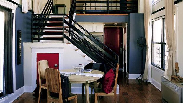旅店房間另有閣樓,十分寬敞,像自家般自然舒適。
