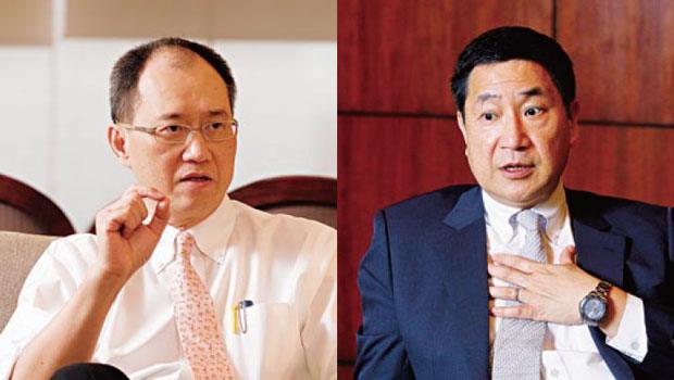 過去總是力挺台泥董事長辜成允(左)的嘉泥前董事長張安平(右),隨著第三代接班,如今遇到問題,也只能袖手旁觀。