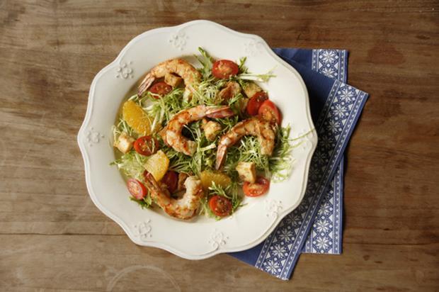 週末輕鬆煮》鮮蝦柳橙沙拉(食譜) - 商業周刊