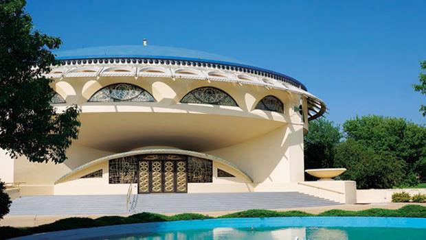 美國建築大師萊特的流線型現代建築