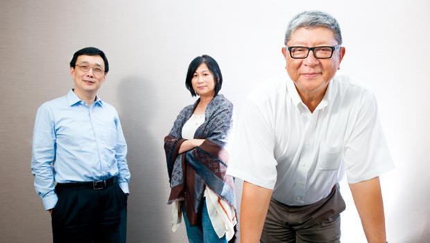 外資銀行教父 陳聖德(右)、投資銀行天后 余佩佩(中)、購併天王 郭明鑑(左)