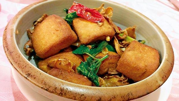 新百王餐廳-三杯豆腐