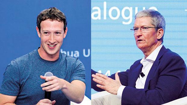 創新企業雙傑,傾囊相授》一前一後踏進清華的佐伯格(左)與庫克(右),一個用中文展現滿滿誠意,一個大談中國布局「蘋果經」。