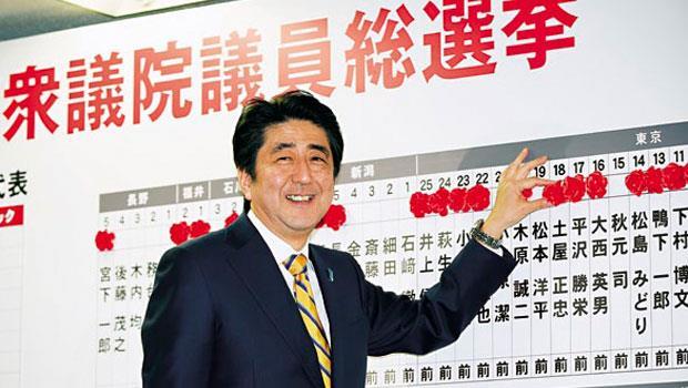 日本首相安倍晉三是眾議院選舉最大贏家,除了繼續用貶值刺激經濟,也將暫緩第2波調漲消費稅,以拉攏民心。