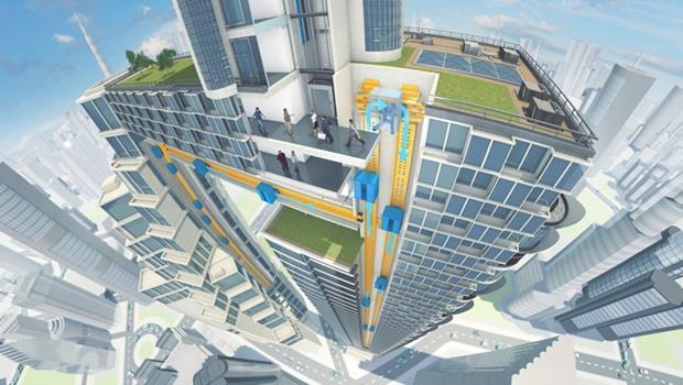 德國新科技》超酷!未來電梯不但有磁浮,還能左右移動!