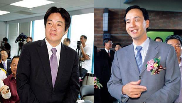 賴清德(左)、朱立倫(右)從清純高中生變政壇花美男,終將在同一選舉舞台上演PK戰。