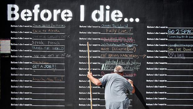 還找不到人生最重要的事?TED教你這個方法:寫下死前一定要完成的願望清單!